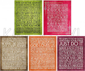 Quotes from LDS prophets... downloadable digital print by kmkvinyl, $5 ...