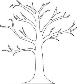 Autumn Tree Stencil3