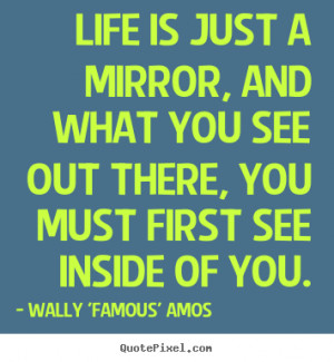 Mirror Quotes life is just a mirror,