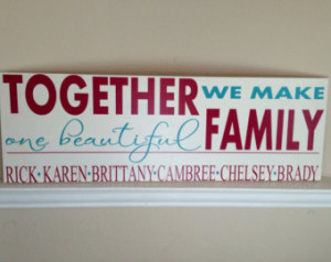 Blended Family Wood Sign