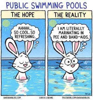 Public swimming pools cartoon