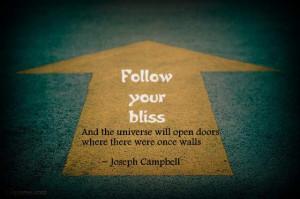 inspiration bliss Joseph Campbell