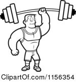 Royalty-Free (RF) Clipart Illustration of a Strong Man In A Spotted ...