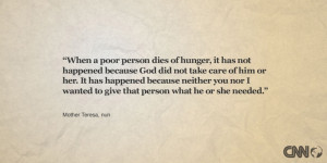 When a poor person dies of hunger, it has not happened because God ...
