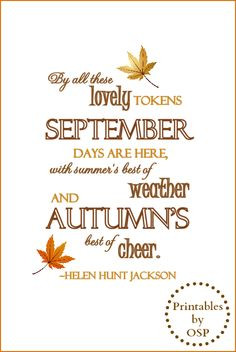 Autumn Quote Free Printable