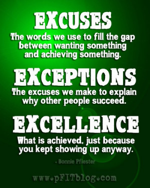 pursueyourpassion2012:Truth. Just….truth. No more excuses! Make that ...