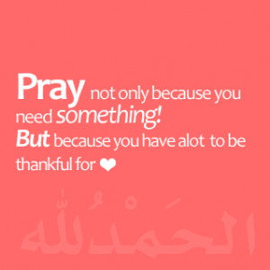 ... you need something but because you have a lot to be thankful for