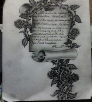 Bible Verse on Script with Vines and Roses by LunaArcanum18