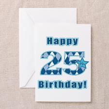 Happy 25th Birthday! Greeting Cards (Pk of 20) for