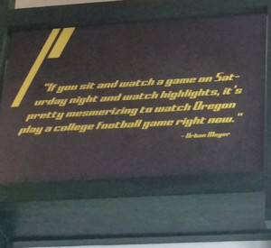 Photo: An Urban Meyer Quote Is Showcased In Oregon's Football ...