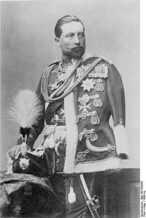 Kaiser Wilhelm II enjoyed a reputation as a peace maker. Shown in a ...