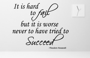 Theodore Roosevelt It is hard...Inspirational Wall Decal Quotes