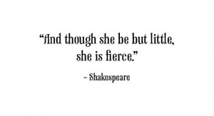 Shakespeare: Thinking about my girl and her cousins....