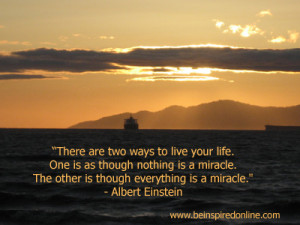 hope you see many miracles today!