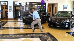 Car Salesman Does the Robot in Funny Ad – Video