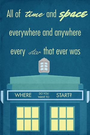 Simon Alenius › Portfolio › TARDIS Doctor Who Quote