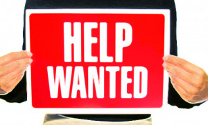Help Wanted Sign - Jobs for 16 year olds