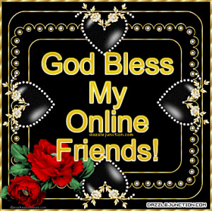 God Bless Online Friends Picture Image Quote