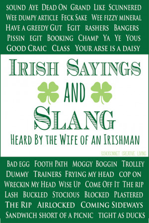 Irish Sayings Irish slang and irish sayings
