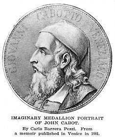 Imaginary Medallion portrait of John Cabot, from a memoir published in ...