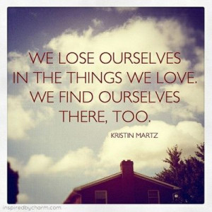 lose yourself. find yourself
