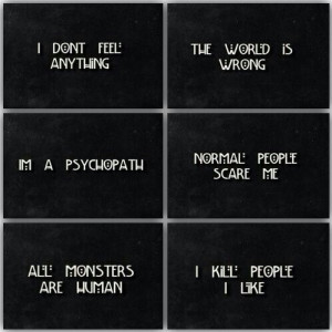 american horror story, phrase, tate langdon