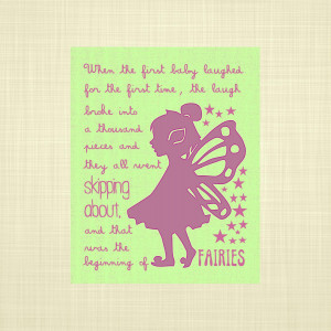 Tinkerbell Quotes From Peter Pan Peter pan quote green & purple