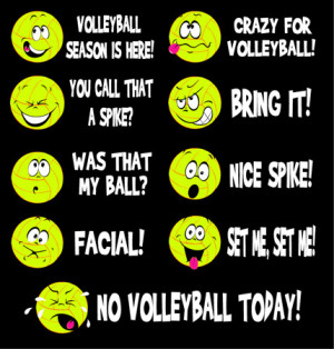 Volleyball Emoticons Shirt is 100% Pre-shrunk Cotton ... * This Shirt ...