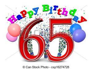 Stock Illustration - happy 65th birthday - stock illustration, royalty ...