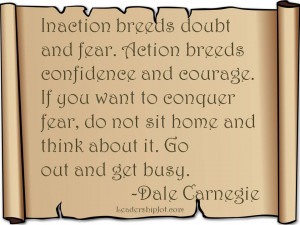 Dale Carnegie Quote on Taking Action