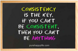 Success Quote: Consistency is the key, if you can't be consistent…