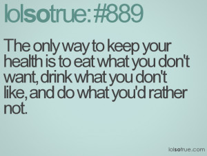 funny healthy eating quotes