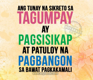 Tagalog Motivational Quotes and Pinoy Motivation Sayings