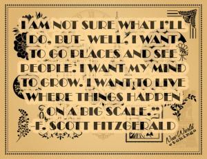 ... , Literary Quotes, Travel Quotes, Scott Fitzgerald Quotes, Crossword