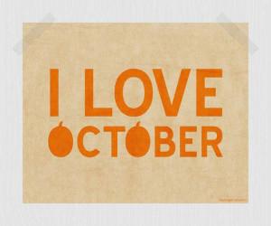October Pumpkin Printable Fall Print Autumn Print Orange 8 x 10 Quote ...