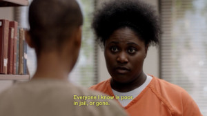 Danielle Brooks as Taystee (R) and Samira Wiley as Poussey in the ...