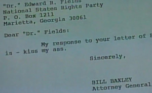 Former Attorney General Bill Baxley's 'Kiss My A**' Letter To Ku Klux ...