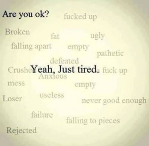 so tired.