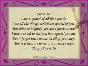 happy sweet 16 birthday poems | Happy Sweet 16 Birthday Bracelet ...