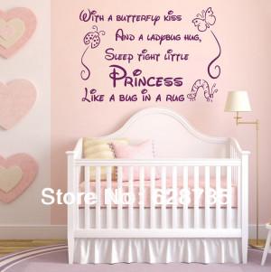 ... girl removable art vinyl nursery decor baby girl ,princess wall