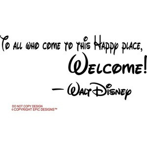 ... who come to this happy place, welcome cute Wall art Wall sayings quote