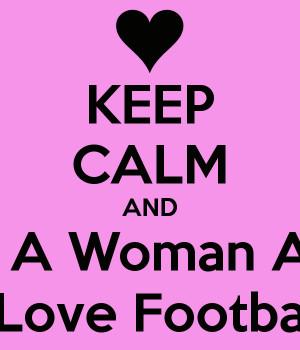 Love Football Logo Woman and i love football