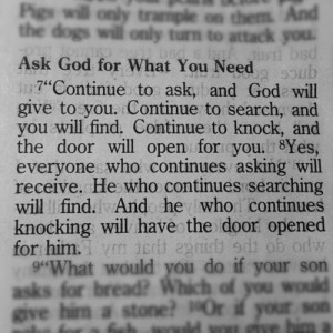 to ask for too much, but the scripture encourages us to go to God ...