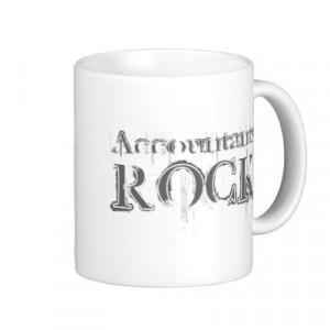 Accounting t-shirts, mugs, stickers, and more. They're also great