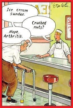 ice cream, arthritis