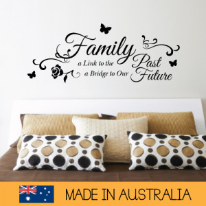 about Family A link To The Past Future Wall Sticker Family Home Quotes ...