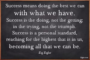 Quote for success, Zig Ziglar