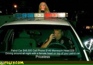 Funny Pics Priceless Police Car