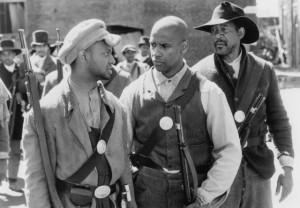 Still of Morgan Freeman and Denzel Washington in Glory (1989)