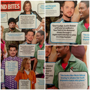 ... into Entertainment Weekly magazine along with a quote by Chris Rock